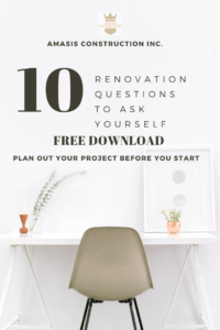 Download Amasis Constructions Free Renovation Checklist